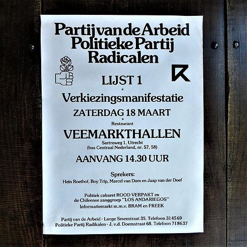 Poster Netherlands Original Poster PvdA