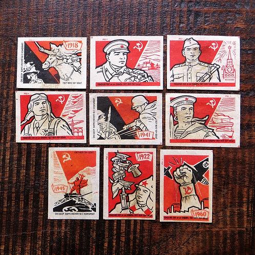 Matchbox Label Soviet Russia Propaganda Soviet Wars 1961