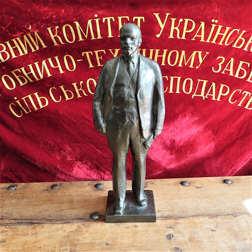 Statue Lenin Big, Heavy, With Signature 1973