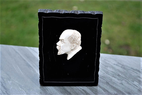Desktop Soviet Russia Kholmogory Bone Carving Lenin
