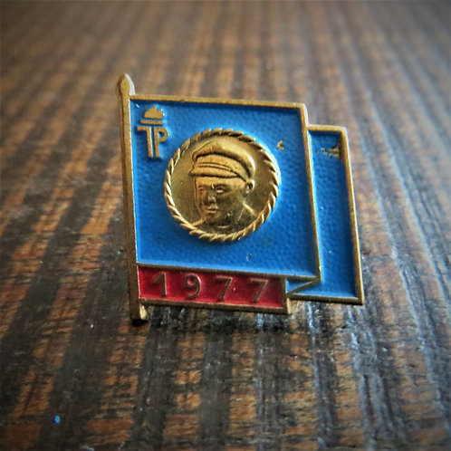 Pin DDR Pin Young Pioneers Blue Flag 1977