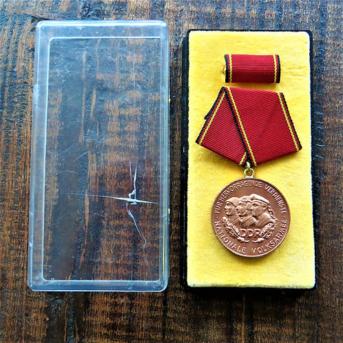 Medal DDR Distinguished Service National People's Army Bronze