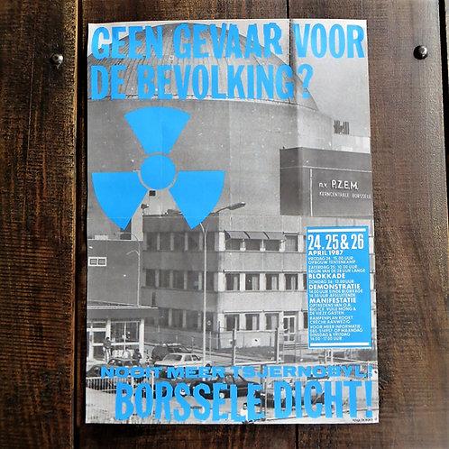 Poster Netherlands Original Never Again Tsjernobyl 1987