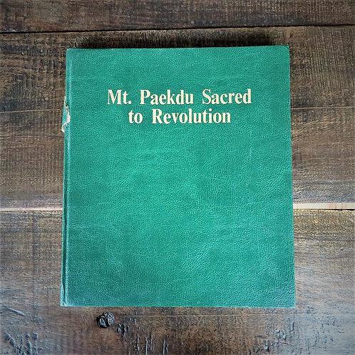 Book North Korea Pictures Mt. Paektu Sacred To Revolution 1989