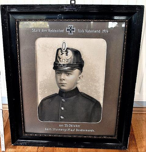 Wallpiece Germany Framed Portrait Fallen German WWI Soldier