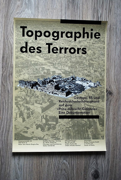 Poster DDR Topography Of Terror