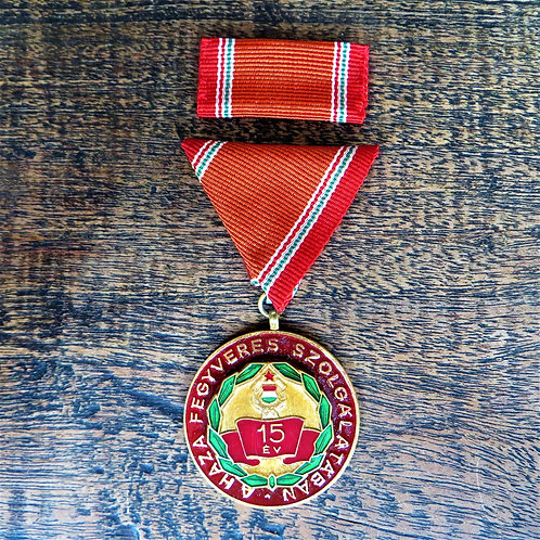 Medal Hungary 15 Year Of Militairy Service