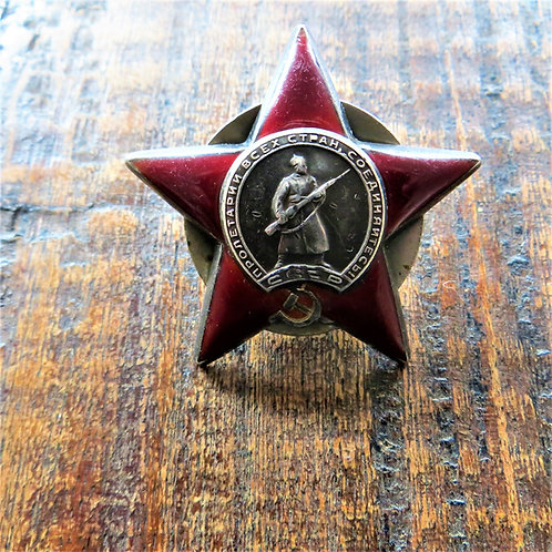 Order Of The Patriotic War 2nd. Class And Order Of The Red Star From One Person