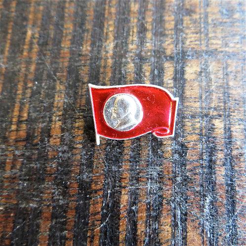 Pin Soviet Russia Lenin Silver Edition