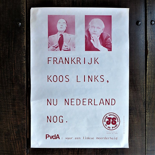 Poster Netherlands Original France Chose Left, Now The Netherlands