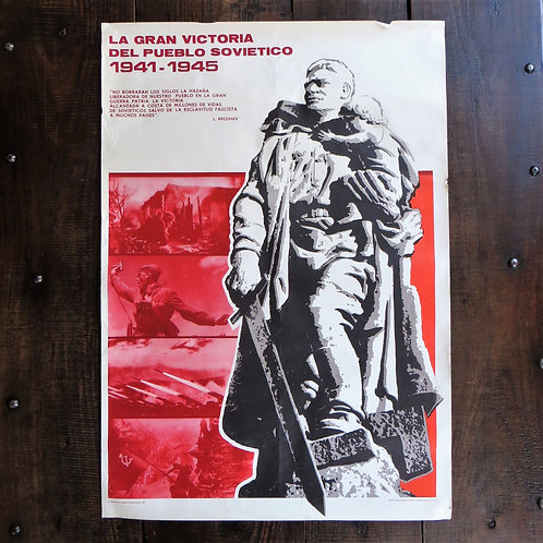 Poster Spain Original The Great Victory Of The Soviet People 1975