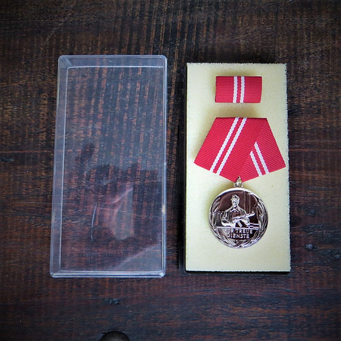 Medal DDR Long Service In Fighting Groups Of The Working Class Silver 10 Years