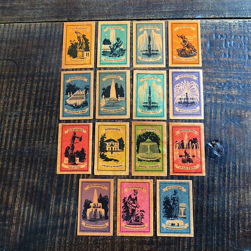 Matchbox Labels Soviet Russia Buildings Fountains And Statues
