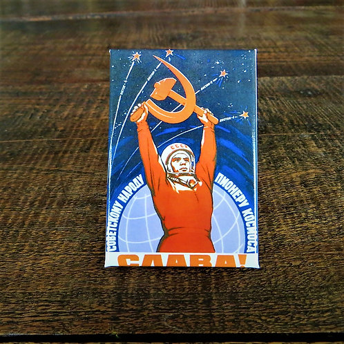 Fridge Magnet Soviet Union Space Magnet