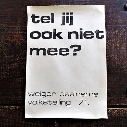 Poster Netherlands Original Don't You Count?