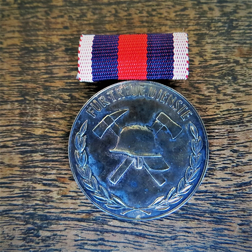 Medal DDR Faithful Service Firefighter