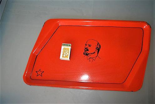 Tableware Soviet Russia Lenin Tray