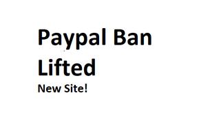 Paypal Ban Lifted