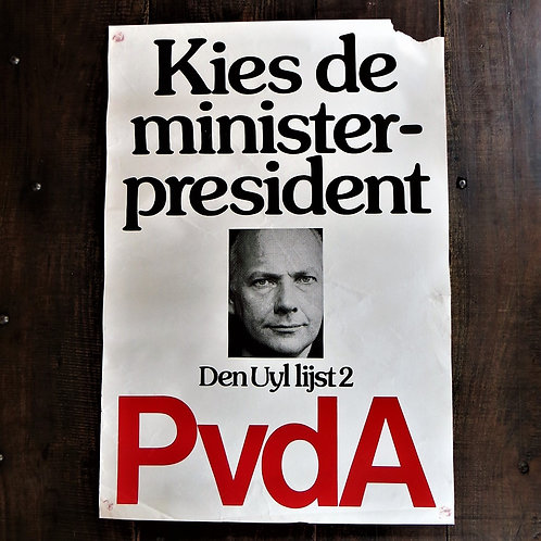 Poster Netherlands Original PvdA Choose The Prime Minister