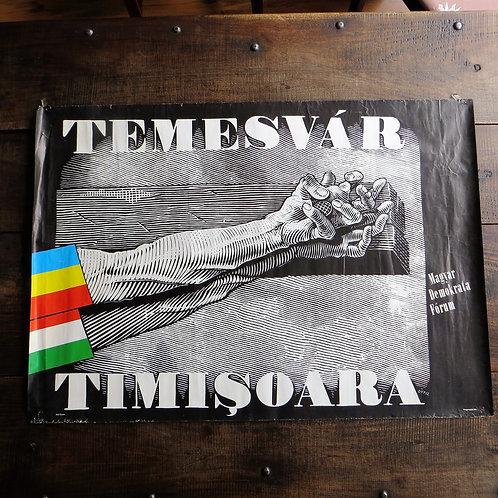 Poster Hungary Original Timisoara 1990