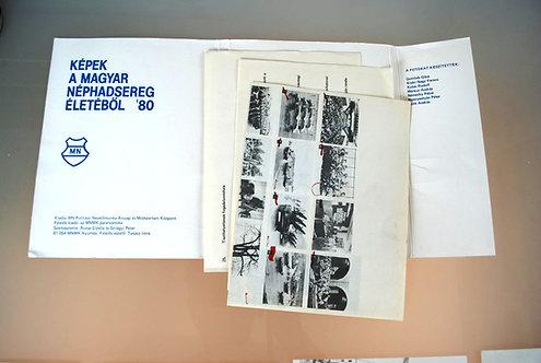 Poster Hungary Original Poster Set Hungarian Army 1980