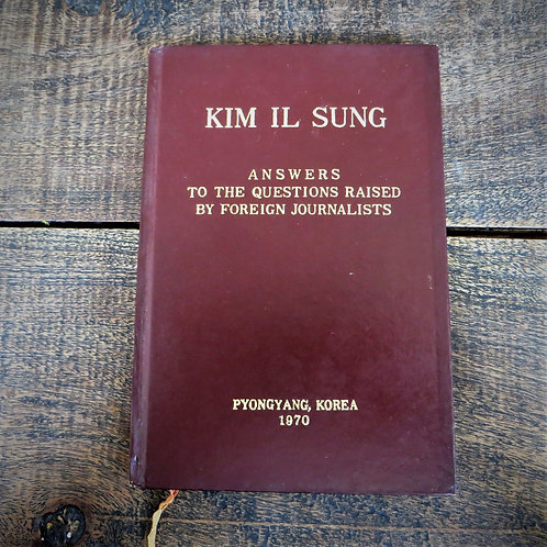 Kim Il Sung Answering Questions 1970