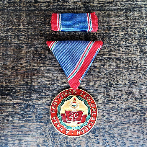 Medal Hungary 20 Year Of Militairy Service