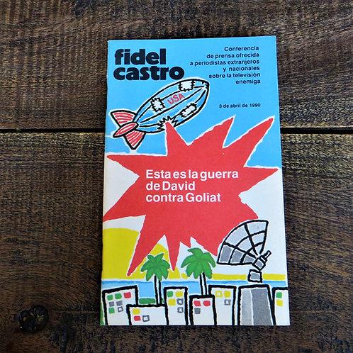Book Cuba Fidel Castro 1990 David Geurra Against Goliath
