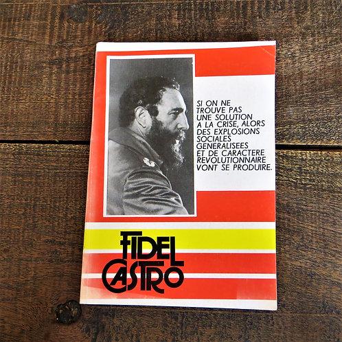 Cuba Book From Fidel Castro In French 1985