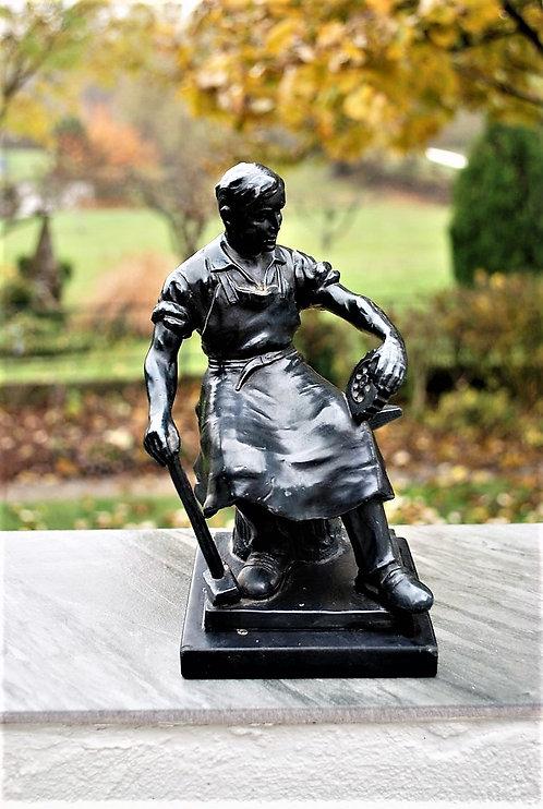 Statue Soviet Russia Socialistic Art Iron Worker/Blacksmith