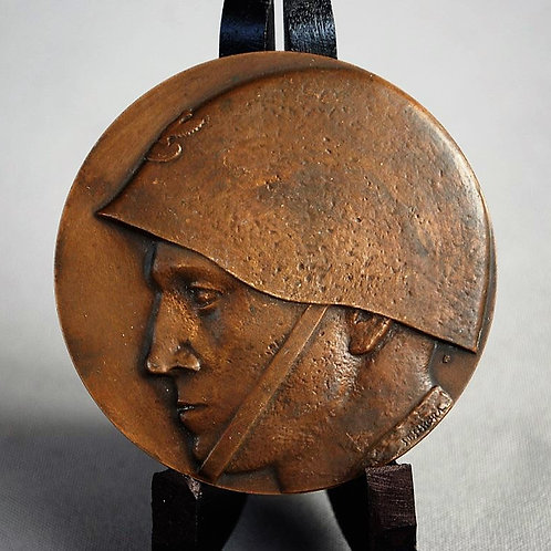 Table Medal Poland Polish Soldiers Head With Signature