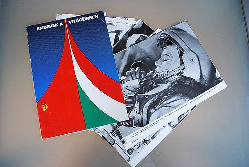 Poster Hungary Original Space Miniposter Map 1980