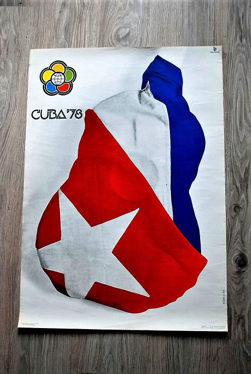 Poster Hungary Original 11th. Worldfestival Youth And Students Cuba 1978