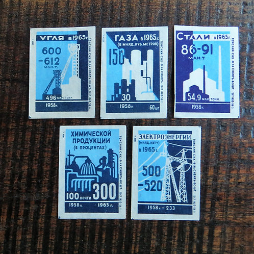 Matchbox Label Soviet Russia Industry 1959