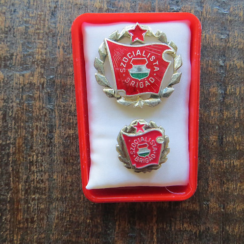 Pin Hungary Socialist Workers Brigade Pin Silver Edition