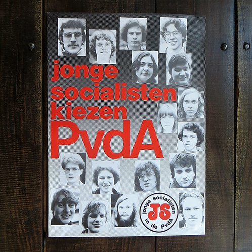 Poster Netherlands Original Young Socialists Choose PvdA