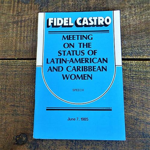 Book Cuba BCU014 Speech Fidel Castro On Caribbean And Latin Women 1985