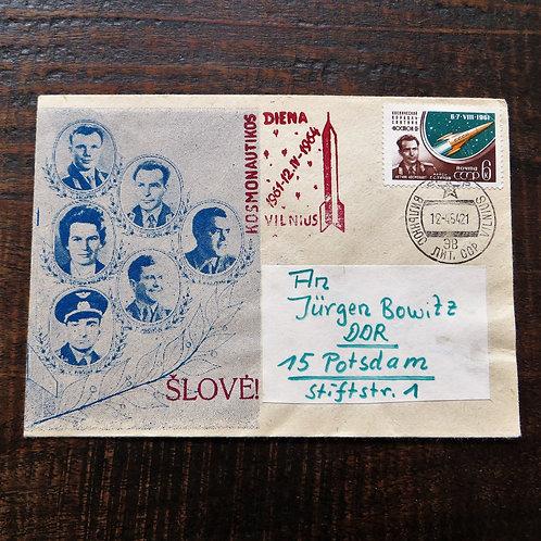 FDC Soviet Russia Cosmonauts 1964