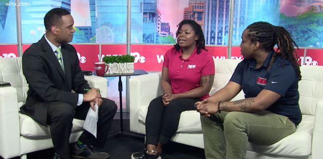 Co-Owner Coach E & Coah KB on WLTX w/ Deon Guilery discussing Free Community Meeet & Greet w/ Jewell Loyd & Courtney Williams