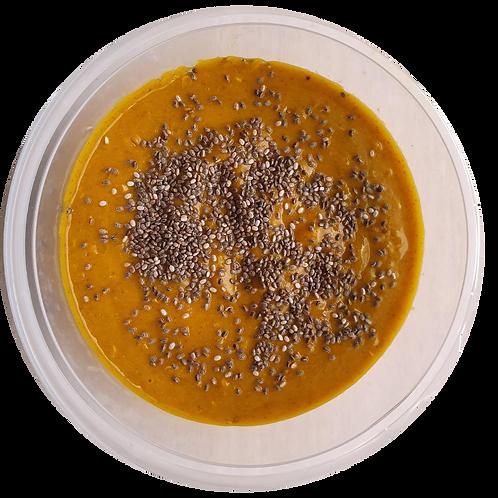 Creme de abóbora com quinoa e chia