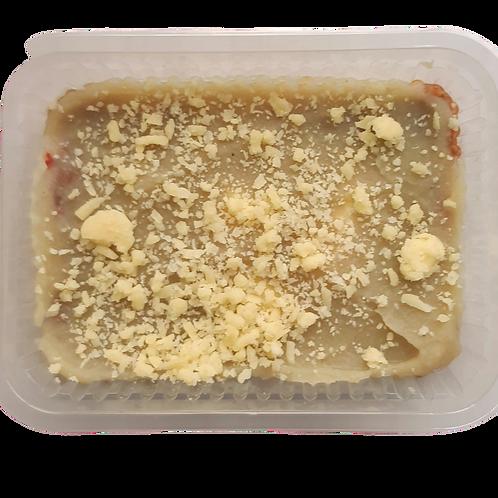 Escondidinho de batata doce com shimeji