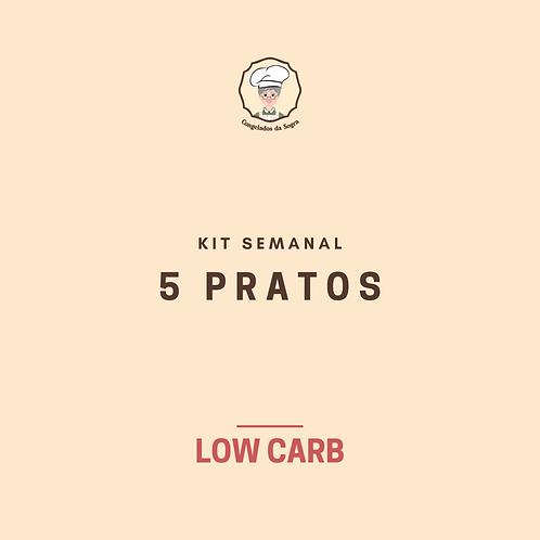 Kit Semanal Low Carb 5 Pratos (Pagamento no Cartão)