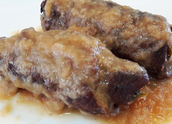 Rolinho de Carne com Espinafre e Ricota