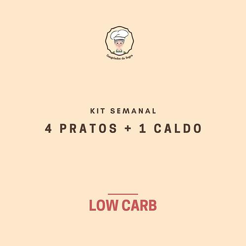 Kit Semanal Low Carb 4 Pratos + 1 Caldo (Pagamento no Dinheiro)