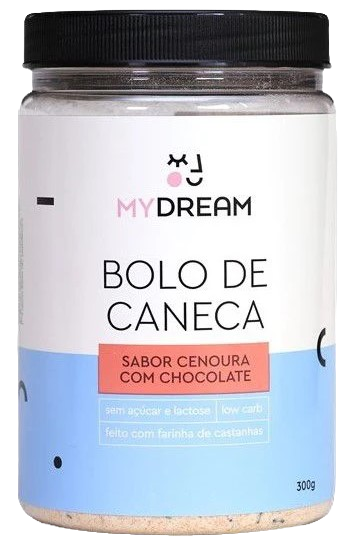 Bolo de Caneca - MY DREAM - Sabor Cenoura com Chocolate