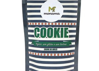 Cookie vegano de creme de avelã