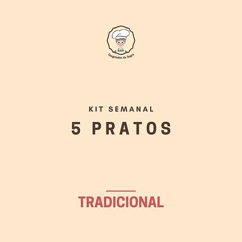 Kit Semanal Tradicional 5 Pratos (Pagamento no Cartão)