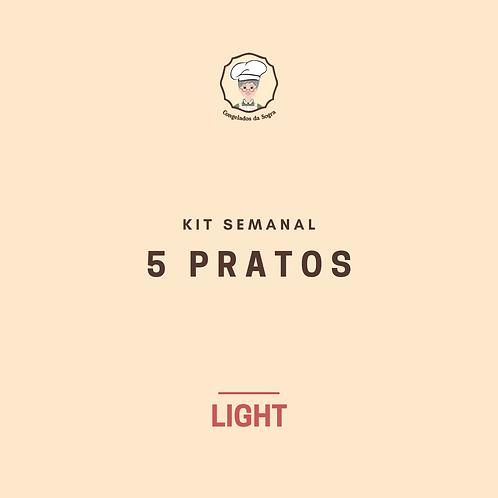 Kit Semanal Light 5 Pratos (Pagamento no Cartão)
