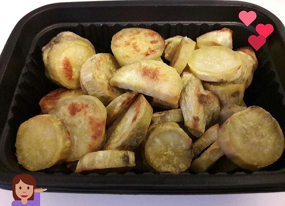 Porção de batata doce assada