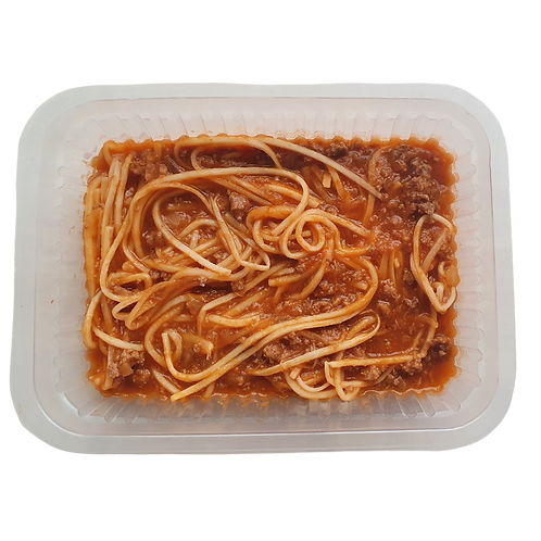Espaguete de pupunha a bolonhesa